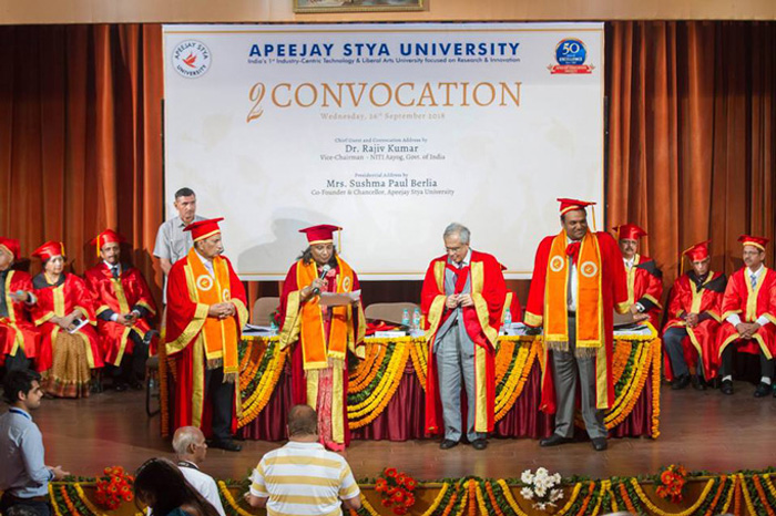 Apeejay Stya University honours eminent personalities at its 2nd Convocation