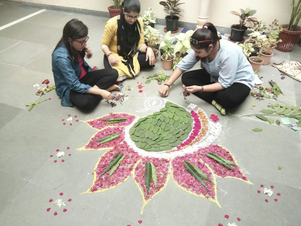 Rangoli by B.Ed students